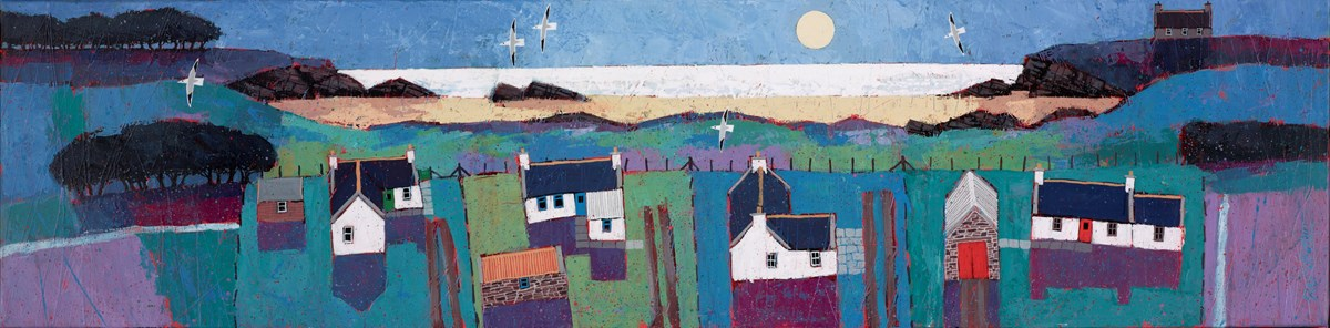 Evening Blues by david body -  sized 47x12 inches. Available from Whitewall Galleries